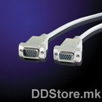 11.99.6518-50 VALUE VGA Cable,HD15 F-HD15 M,1.8m