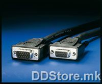 11.04.5302-20 ROLINE HQ VGA Cable,HD15 M-HD15 F,2.0m