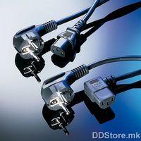 19.99.1018-100 Power cable straight Schuko, 1.8m, black