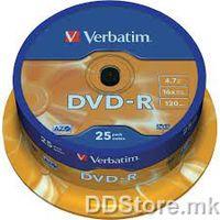 DVD-R 4.7GB 16x Verbatim 25pcs Wrap