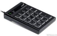Keypad, USB, additional backspace key, 19 keys