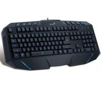 Genius KB-G265, 2x USB, Gaming multimedia keyboard, Blue Backlight, 8 extra keys, anti ghost keys, for online gaming