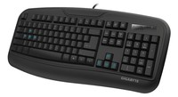 Gigabyte keyboard Force K3 Gaming, USB, 105k, FK3-USI, Black