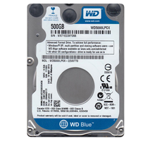 "Western Digital WD Blue™ 5000LPCX, 500 GB, SATA3, 32 MB, 2,5"", 5.400 rpm"