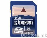 Kingston 4GB SDHC Class 4 Flash Card, SD4/4GB