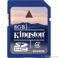 Kingston 8GB SDHC Class 4 Flash Card, SD4/8GB