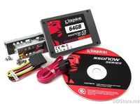 "HDD Kingston V100 SSDNow Desktop Kit 64GB 2.5"" 64MB SATA Internal"