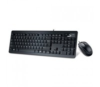 Genius SlimStar C130, USB Keyboard + Mouse combo, Color: Black, Chocolate keys style with softly rounded edges