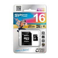SILICON POWER Micro SD 16GB w/1 adapter CLASS 10