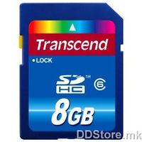 SDHC 8GB Secure Digital Card, Class 6, Read : 12~16 (MB/s),Write: 7~9 (MB/s),