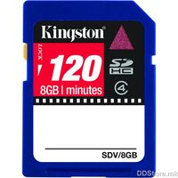 Kingston 8GB Video SDHC Flash Card, SDV/8GB