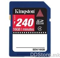 Kingston 16GB Video SDHC Flash Card, SDV/16GB