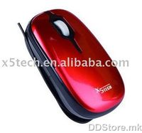 X5TECH Optical Mouse, USB, cable coiling, XM-917