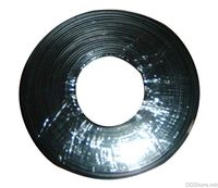 Telephone flat cable stranded wire 100m Black