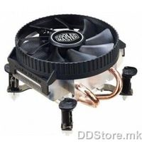 Cooler Master Vortex 211Q RR-V211-15FK-R1 Top blowing 2 heatpipe cooler, LGA 1155/1156/775, 1500RPM