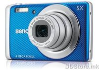 "14MP - CCD sensor - 5x optical zoom - 2,7"" LCD - 720p Video recording @30fps - HDR II, LOMO effect, Fisheye lens, Color accent, Dual charging, 6400 High ISO, various scene modes - Built-in 12.7Mb, up to 32GB SDHC - 110g, 700mAh Rechargeable Li-ion Ba"