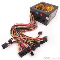 600WRX / ATX12V2.3 / PFC Passive / Connectors: 6x SATA, 2x PATA, 2x PCI-e 6pin, 1x MB 20+4pin, 8pin/4pin+12V / 120mm Fan / Retail
