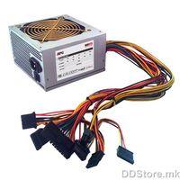500W / ATX12V v2.2 / Connectors: 2x PATA, 4x SATA, 1x MB 20+4, 1x CPU 4pin, 1x FDD / 120mm Fan / European Power Cord  - CE, ROHS / bulk