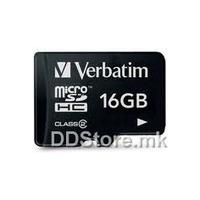 Secure Digital Micro Verbatim 16GB SDHC High Speed Class10