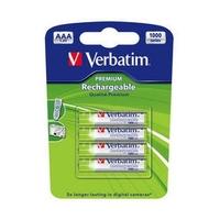 Batteries 1000mAH Rech. NI-MH AAA 4pack Verbatim