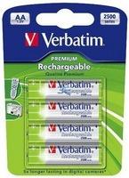 Batteries 2500mAH Rech. NI-MH AA 4pack Verbatim