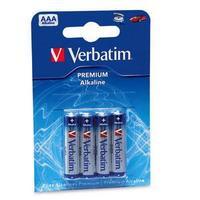 Batteries Verbatim AAA 4pack Alkaline
