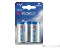 Batteries Verbatim D 2pack Alkaline
