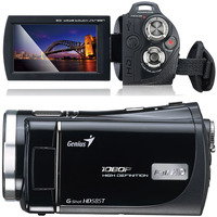 "Genius G-Shot HD585T, FullHD 1080P Camcorder, 5 Megapixels photo function, 3"" touch LCD panel, Flash/LED, 5x Optical zoom, HDMI, Lithium-ion battery"