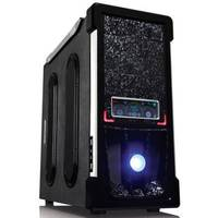 Aresze Logo LCD Case 7225B, Color Box, 2*12CM LED Color fan+1*12cm black, full black cases, 450ALA(NVIDIA SLI&80PLUS), real 350w ,450w peak ,20+4pin,6*SATA, High efficient 14cm Blue  LED Dual-Ball bearing fan  provide best air-flow, Compliant with SS