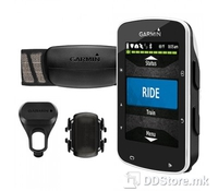 """GARMIN Edge 520 Bundle with HRM and Cadence, Bike mount, 2.4"""" x 1.9"""" (200x265) color screen, GPS enabled + GLONASS, HotFix satellite prediction, Offers in-ride challenges through Strava live segments, Reports cycling-specific VO2 max and recovery tim"""