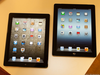 """Apple The New iPad 3 Black 16GB Wi-Fi Tablet, 9.7"""" Retina Touchscreen Display, 2048x1536, Dual-Core A5X Chip with Quad-Core Graphics, 5 Megapixel iSight Camera, 980p Video Recording, Apple iOS 5, 9 Hour Battery Life, MC705LL/A"""