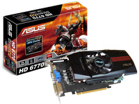 EAH6770 DC/G/2DI/1GD5, Radeon HD6770, PCIE PCIE 2.1, Memory 1024MB, Memory Type DDR5 128 bit, Engine CLK (MHz) 850, Memory CLK (MHz) 4.0GHz, 2x DVI-I (HDCP support), Native HDMI, Power Cable, HDMI-to-DVI dongle