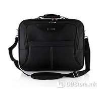 "Modecom Madryt Laptop bag  15,6"", Color: Black, Material: 1680D nylon, Four pockets, Middle pocket for laptop, Second, mayor pocket for laptop, special pocket for accessories (cell phone, pens, bussiness cards), Dimensions: 43 x 33 x 11 cm"