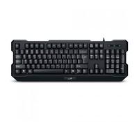 Genius KB-210, Multimedia keyboard, USB, Black, Color Box, spill resistant