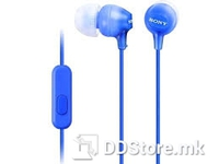 Earphones Sony MDR-EX15APLZ w/Microphone Blue