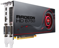 AMD Radeon HD6750 PCI-EX2.0 1024MB DDR3 128 bit, 700/1600 MHz, DVI/HDMI/VGA, Dual Slot Fan Cooler,  CrossfireX, HD3D, Lite Retail
