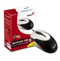 Genius NS 100 Optical mouse / PS2 / Black+Silver / G5