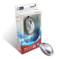 Genius RS,Mini Traveler Opical mouse, USB, 1600dpi, Silver