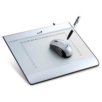 "Genius Graphic tablet i608X, 6""x8"", tablet with mouse, 2560Lpi, 1024 levels, 100rps"