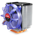 SP601B0 VertiCool II  754/940 AMD Athlon64 & LGA 775 Celeron/Prescott cooler, 2 heatpipes, copperbased, blue transp.fan 19dBA only