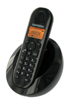 Telefunken DECT Phone PEPS TB 201 Black, Black, Handsfree/Speakerphone, caller ID, Alarm function, 50 contacts, 300m range