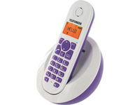 Telefunken DECT Phone PEPS TB 201 Violet, Handsfree/Speakerphone, caller ID, Alarm function, 50 contacts, 300m range