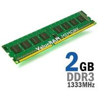Kingston2GB 1333MHz DDR3 Non-ECC CL9 DIMM Bulk Pack 50-unit increments, KVR1333D3S8N9/2GBK