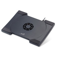 "Genius Notebook stand 200, one big central fan, up to 19"", Black"