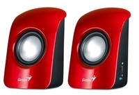 Genius SP-U115 speakers, Red, 1.5W, USB power