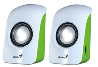Genius SP-U115 speakers, White, 1.5W, USB power