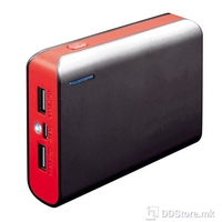 Power Bank Platinet Portable for Smartphone and Tablet 6000mAh Black/Red w/Led Light and Micro USB