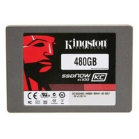 Kingston 480GB SSDNow KC100 SSD, SATA3, 2.5 Form Factor, 1000000 Hrs MTBF, SKC100S3/480G