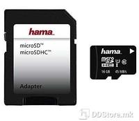 Hama 00124150 microSDHC 16GB Class 10 UHS-I 80MB/s + Adapter/Foto