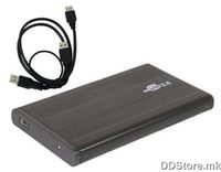"Avatec HDD Case HB-3306, 2.5"" HDD case, Aluminium case, Support 750GB disk, USB3.0, Color:Black"